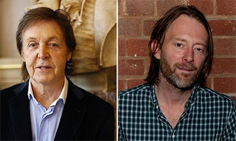 paul mc cartney e thom yorke insieme